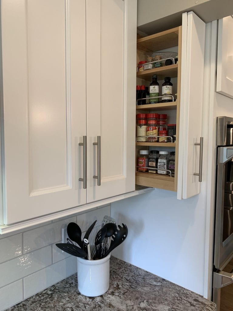 Spice Cabinet | Refacing or Refinishing Cabinets?